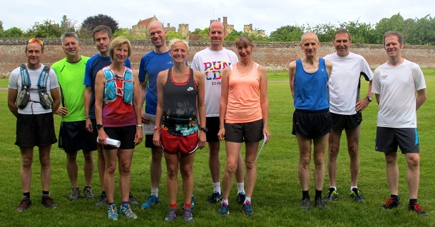 Trail runners at Penshurst